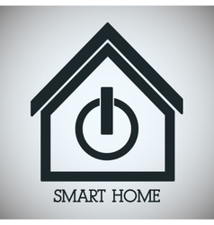 Smart house design technology icon vector
