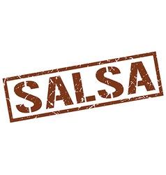 salsa stamp vector image