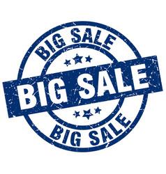 Big sale blue round grunge stamp vector