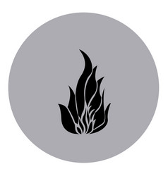 Blue emblem sticker fire icon vector