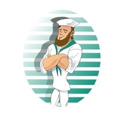 Boy sailor cartoon vector