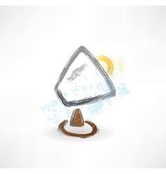 brush lamp icon vector image vector image