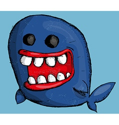 Cartoon whale vector