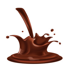chocolate splash fondant drops relaistc vector image