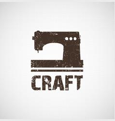 craft logo business idea vector image vector image