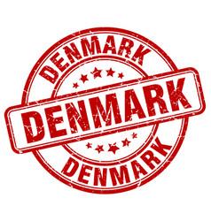 Denmark red grunge round vintage rubber stamp vector