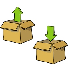 download box icon vector image vector image