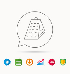 Grater icon kitchen tool sign vector