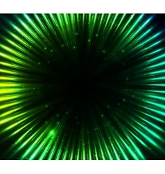 Green shining cosmic lights abstract background vector