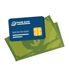 Icon credit card e- commerce design vector