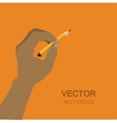Modern hand with pencil vector