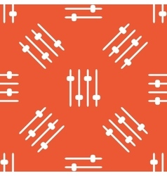 Orange faders pattern vector image