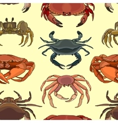Pattern of crab icons vector image