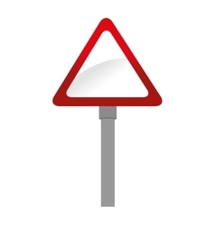 prohibition sing road danger isolated vector image