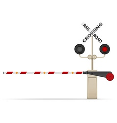railroad crossing 02 vector image vector image