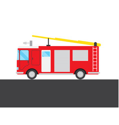 Red fire-engine picture vector