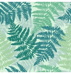 Seamless repeating fern pattern background vector