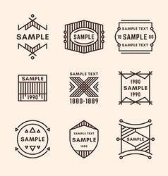 Set of Line Art Decorative Geometric Frames and vector image vector image