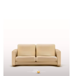 Sofa furniture item vector