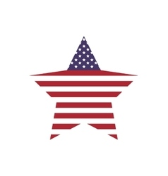 Star shape icon USA design graphic vector image