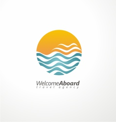 Travel agency creative symbol concept vector image