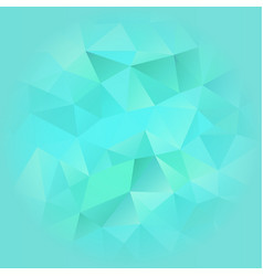 Turquoise blue poligonal background vector
