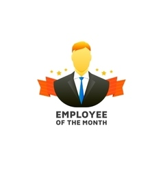 Employee of the month vector