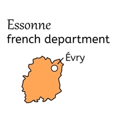 Essonne french department map vector