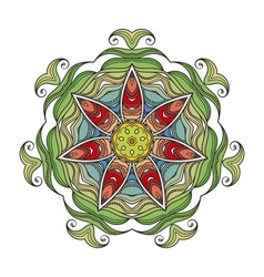 Mandala mehndi lace tattoo art nouveau weave vector
