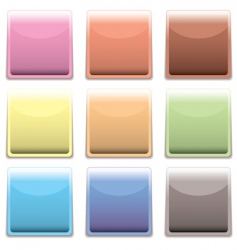 Subtle square plastic web icon vector