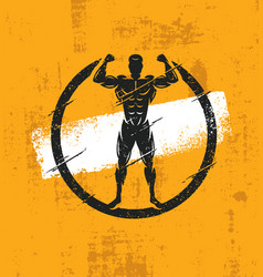 Strong man athlete fitness workout rough vector