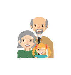 Grandparents granddaughter family image vector