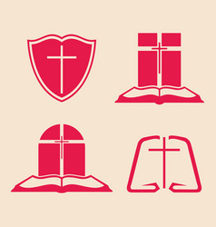 Set of christian logos vector