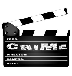 Crime movie clapperboard vector