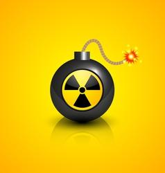 Black nuclear bomb vector
