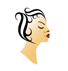 Vintage hairstyle vector