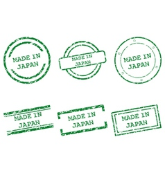 Made in Japan stamps vector image