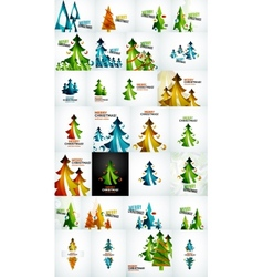 Christmas tree geometric design vector