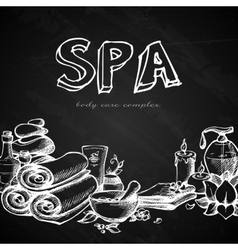 Spa chalkboard background vector
