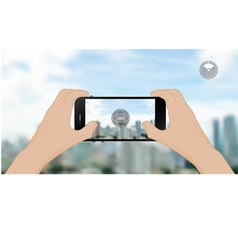 360 degree view in mobile vector