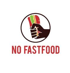 no fastfood emblem vector image