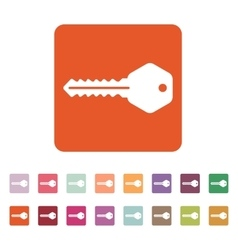 The key icon key symbol flat vector