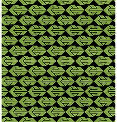 Bright abstract seamless pattern with green arrows vector