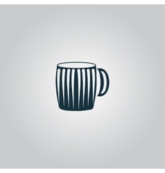 Empty beer mug vector