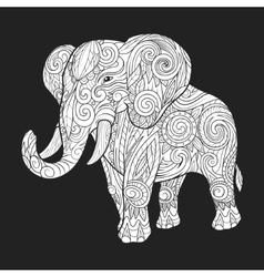 Elephant ornament ethnic vector