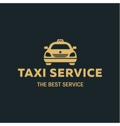 Logo best taxi car flat style icon vector