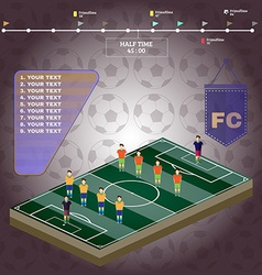 Football stadium playfield side view vector