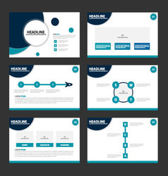 Circle blue presentation templates infographics vector