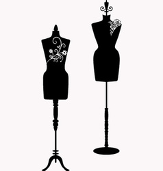 Mannequin silhouette collections vector