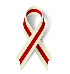 Burgundy and ivory ribbon vector